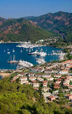 Göcek, a small town in the district of Fethiye, Muğla