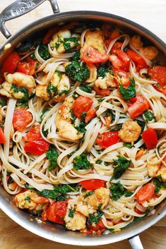 Shrimp tomato spinach pasta shrimp pasta shrimppasta tomatoes spinach spinachpasta tomatopasta italian italianpasta baked egg in bread bowls tasty food videos and recipes Yummy Pasta Recipes, Salmon Recipes, Seafood Recipes, Healthy Dinner Recipes, Chicken Recipes, Cooking Recipes, Chard Recipes, Spinach Pasta Recipes, Sauce Recipes