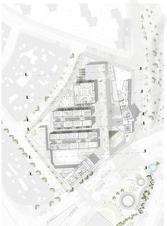 Galerie von Ana Díaz MegaColegio Educational Garden, städtische Lehrmittel in Medellín – 40 - Architectural Style Architecture Drawings, Architecture Plan, Residential Architecture, Landscape Architecture, Sponge City, Architectural Plants, Architectural Presentation, Plan Maestro, Urban Design Plan