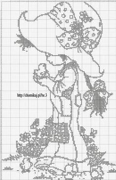 Gallery.ru / Фото #139 - Дети (схемы) - Olgakam Cross Stitch Fruit, Beaded Cross Stitch, Cross Stitch Baby, Cross Stitch Charts, Cross Stitch Designs, Cross Stitch Embroidery, Cross Stitch Patterns, Crochet Girls Dress Pattern, Crochet Applique Patterns Free