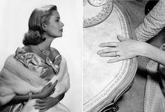 Les fiancailles de Grace Kelly http://www.vogue.fr/mode/inspirations/diaporama/grace-kelly-et-la-mode/15934/image/875966#!les-fiancailles