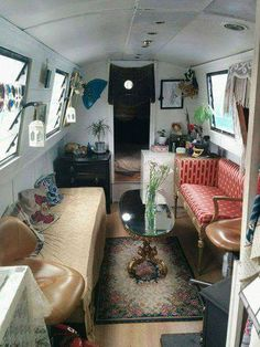 Narrowboat for December, Christmas and New Year weeks) Barge Interior, Interior Exterior, Interior Design, Barge Boat, Canal Barge, Living On A Boat, Tiny House Living, Canal Boat Interior, Caravan Living