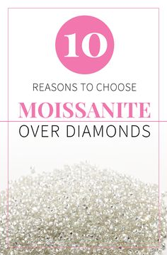 What gem is the best for your engagement ring and jewelry? Find out the facts about moissanite, diamond, CZ, and white sapphires: http://www.moissanite.com/blog/10-reasons-to-buy-moissanite/