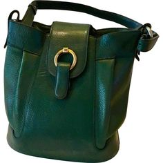 924f677b5d28f5 green Plain Leather DELVAUX Handbag - Vestiaire Collective Thick Leather,  Luxury Consignment, Belgium,