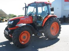 Kubota M125x With Tracks And Snow Blade For Grooming