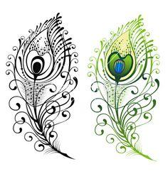 Bird tattoo realistic peacock feathers 70 new ideas Feather Clip Art, Feather With Birds Tattoo, Feather Drawing, Peacock Tattoo, Feather Vector, Peacock Art, Peacock Feathers, Tattoo Bird, Mandala Feather