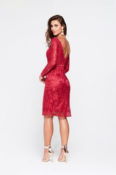 ff0e38bfd0d A N Grace Lace Cocktail Dress - Deep Red. Red LaceA ...