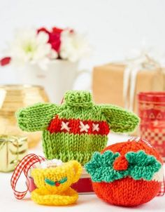 Knitted decorations | Lets Knit