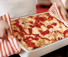 Vegetable lasagna's universal appeal and easy preparation make it a great choice for any get-together. Recipe: Zesty Vegetable Lasagna   - CountryLiving.com
