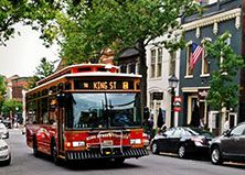Alexandria, VA: Riding is free, so explore King Street via the city's most convenient mode of transportation, stopping every two blocks from the King St-Old Town Metrorail station to the waterfront.