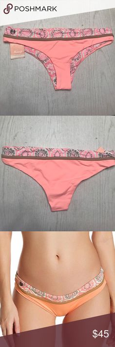 Maaji bikini bottoms! super cute maaji bikini bottoms, they look more pink in the picture but they are like an orange, peach. as shown on the model. they are reversible, this one is a booty coverage style. PLEASE NO LOWBALL OFFERS posh mark takes out a huge cut. will do less through Ⓜ️ercair // you get 3 dollars off your first order. Maaji Swim Bikinis