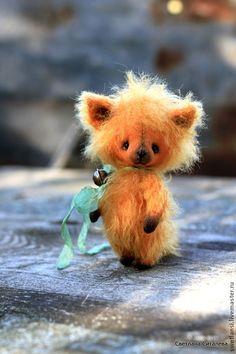 Огонёк - рыжий,лисёнок,друг тедди,авторская ручная работа,авторская игрушка