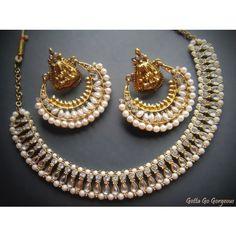 Ram leela chand bali jewelry set