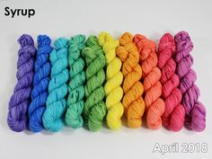 The highest quality hand-dyed, just for you. Gradient Color, Syrup, Fiber Art, Spin, Lana, Color Schemes, Beautiful, R Color Palette, String Art