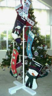 Elegant Stocking Holder How To....I Can See This Used In A · Stocking StandStocking  TreeChristmas ...
