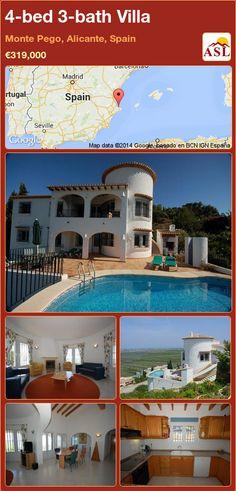 4-bed 3-bath Villa in Monte Pego, Alicante, Spain ►€319,000 #PropertyForSaleInSpain