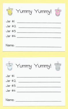 Baby Shower Game - Yummy, Yummy - Baby Food Game. $12.00, via Etsy.