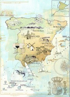 Tina Zellmer map of Spain