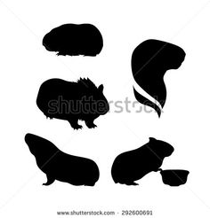Guinea Pig Silhouette Stock Vectors & Vector Clip Art | Shutterstock