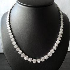 And finally this cluster-set diamond necklace in 18K white gold #AaryaJewelry  #DiamondJewelry #GoldJewelry #DiamondNecklace #GoldNecklace #Bespoke #18k #Gold #Diamond #Sparkles #ForHer #Gift #ForYou #Forever #DiamondsAreForever #Luxury #LuxuryJewelry #Jewellery #Necklace #Shine #LoveDiamonds #GirlsBestFriend
