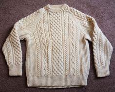 Vintage Kelly Knitwear IRISH Wool Knit Sweater Ireland Crewneck Womens Large ? #KellyKnitwear #Crewneck #Everyday