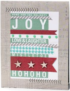 Card made with the POSTER TIDINGS stamp set