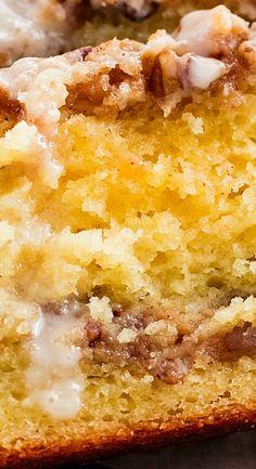 Cinnamon Pecan Coffee Cake Loaf