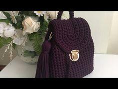 Very Stylish Combed Rope Backpack Model Making – # Bag … – Bags Crochet Handbags, Crochet Bags, Knit Crochet, Crochet Dolls Free Patterns, Crochet Flower Patterns, Mochila Crochet, Crochet Shoulder Bags, Crochet Backpack, T Shirt Yarn