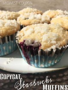Copycat Starbucks Blueberry Muffins Recipe
