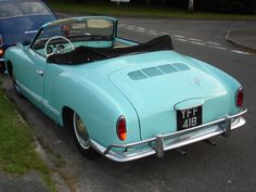 One of my all time favorites! 1961 VW Karmann Ghia convertible.