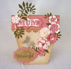 Blog tonic: Bellus Buttercup - a flower pot card from Edna