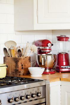 great idea vintage wooden box for utensils kitchenaid accessoriesred kitchen - Red Kitchen Accessories Ideas