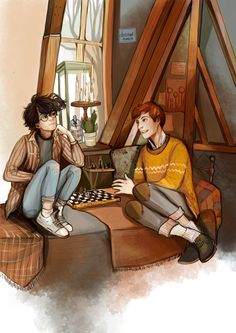 Harry and Ron by dasstark. Pinned by @lilyriverside