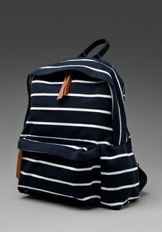back pack- striped