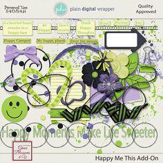 Happy Me This AddOn #graceblosssoms4U #digital #digitalscrapbook #scrapbookkit  #pagekit #photography #scrapbook