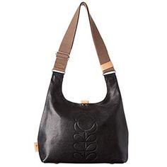 Buy Orla Kiely Textured Leather Midi Sling Bag, Black from our Handbags, Bags & Purses range at John Lewis & Partners. Fashion Desinger, Latest Handbags, Orla Kiely, Fashion Sale, Black Cream, Casual Chic, Leather Bag, Purses And Bags, Suitcase