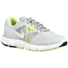 Nike LunarGlide + 3 Breathe - Women's - Running - Shoes - Pure Platinum/Wolf Grey/Liquid Lime/White
