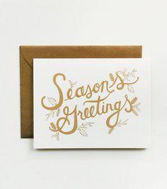 Metallic Season's Greetings Card by Rifle Paper Co.