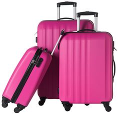 Luggage 3 Piece Suitcase Spinner Set ABS Material * For more information, visit image link.