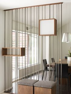 Contemporary Sculptural Modern Room Divider With Small Storage