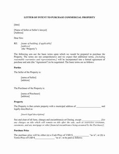 Letter Of Intent Lease Template Lovely Free Letter Intent to Lease Mercial Space Template