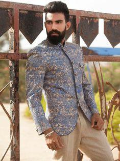 Shop Beige Terry rayon claasy jodhpuri suit online from India. Mens Indian Wear, Mens Ethnic Wear, Indian Groom Wear, Indian Men Fashion, Mens Fashion Suits, Mens Suits, Indian Male, Men's Fashion, Mens Sherwani