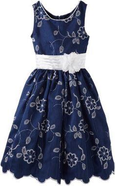 Infantil Amazon.com: Sweet Heart Rose Girls 7-16 Embroidered Floral Dress: Clot...