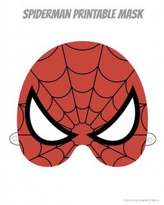 Spiderman printable superhero mask #spiderman #avengers #quickcostume