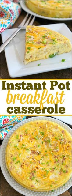 This Instant Pot breakfast casserole recipe is perfect for the weekend or for the holidays! Packed with eggs and sausage it will fill you up & made quickly. #instantpot #pressurecooker #breakfast #casserole #egg #sausage #hashbrowns via @thetypicalmom