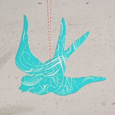 Turquoise Swallow Ornament