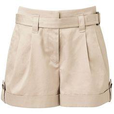 Witchery Safari Short ($76) ❤ liked on Polyvore featuring shorts, short shorts, urban shorts, tie belt, safari shorts and cuffed shorts
