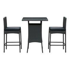 Modway Furniture Cerveza 3 Piece Outdoor Patio Pub Set  #design #homedesign #modern #modernfurniture #design4u #interiordesign #interiordesigner #furniture #furnituredesign #minimalism #minimal #minimalfurniture