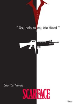 """Scarface - """"Say Hello to my Little Friend"""" #GangsterMovie #GangsterFlick"""