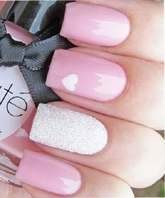 In search for some nail designs and ideas for your nails? Listed here is our list of 17 must-try coffin acrylic nails for fashionable women. Fabulous Nails, Gorgeous Nails, Love Nails, Pretty Nails, My Nails, Nails 2017, Fancy Nails, Heart Nail Art, Heart Nails